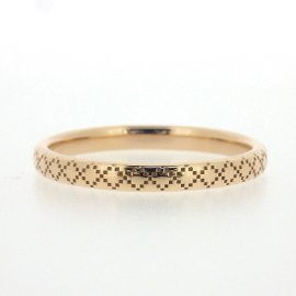 Gucci Diamantissima 18K Rose Gold Ring Size 9