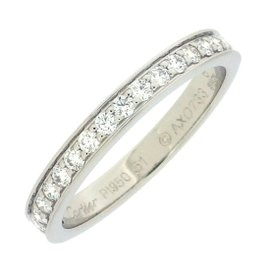 Cartier Harf Eternity Ring 950 Platinum with Diamond Size 5.5