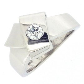 Cartier Knot Ring 18K White Gold with Diamond Size 5.5