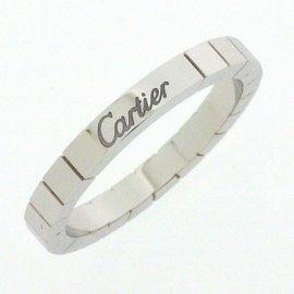 Cartier Lanieres Ring 18K White Gold Size 9.75