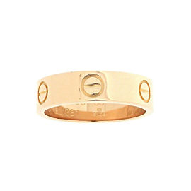 Cartier Love Ring 18K Rose Gold Size 7.25