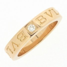 Bulgari Bvlgari 18K Rose Gold with Diamond Ring 4.75
