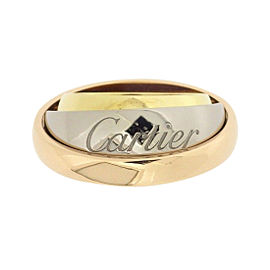 Cartier Must Essence Ring 18K Yellow, White and Rose Gold Size 5.5