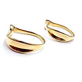 Tiffany & Co. 18K Yellow Gold Elsa Peretti Large Hoop Cuff Earrings