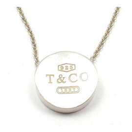 Tiffany & Co. Sterling Silver 1837 Concave Pendant Necklace