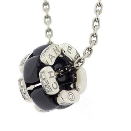 Chanel 18K White Gold & Black Ceramic Diamond Ultra Necklace