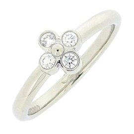 Tiffany & Co. 950 Platinum with Diamond Ring Size 5.5