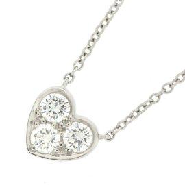 Tiffany & Co. 950 Platinum with Diamond Sentimental Heart Necklace