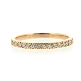 Tiffany & Co. 18K Rose Gold with Diamond Novo Full Eternity Ring Size 6