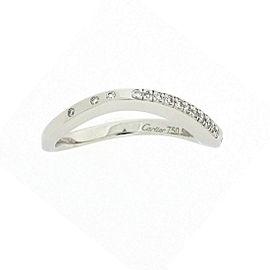 Cartier Paris Nouvelle Vague Ring 18K White Gold with Diamond Size 6