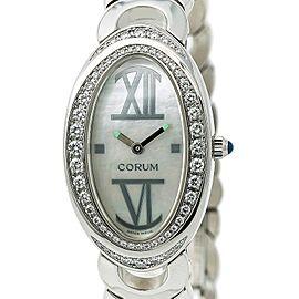 Corum Ovale 137.410.47 Box & Papers Womens Quartz Diamond Watch MOP Dial 24mm