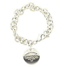 Tiffany & Co. Return to Tiffany 925 Sterling Silver Round Tag Bracelet