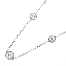Cartier Diamants Legers Necklace 18K White Gold with Diamond