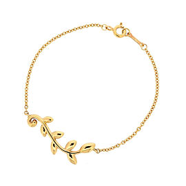 Tiffany & Co. 18K Rose Gold Olive Leaf Bracelet