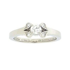Cartier Ballerina Ring 950 Platinum with 0.18ct Diamond Size 4.5