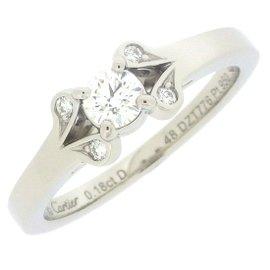 Cartier Ballerina Ring 950 Platinum with 0.18ct Diamond Size 4.5