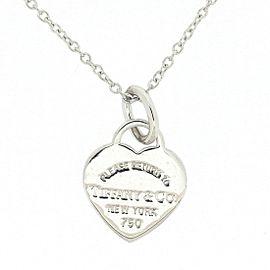 Tiffany & Co. Return to Tiffany 18K White Gold Heart Tag Necklace