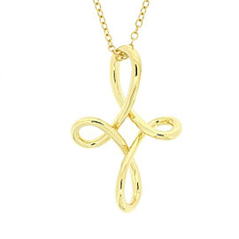 Tiffany & Co. 18K Yellow Gold Infinity Cross Necklace