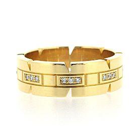 Cartier Tank Francaise Ring 18K Yellow Gold Diamond Size 9