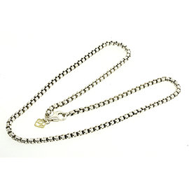 David Yurman 925 Sterling Silver and 14K Yelllow Gold Box Chain Necklace