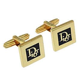 Vintage Christian Dior Gold Tone Hardware Cufflinks
