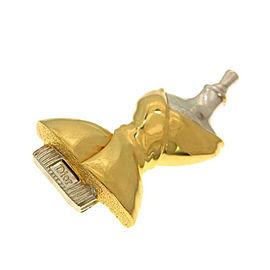 Christian Dior Silver & Gold Tone Hardware Corsage Brooch