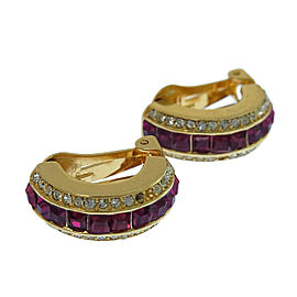 Dior Gold Tone Hardware with Rhinestone Earrings