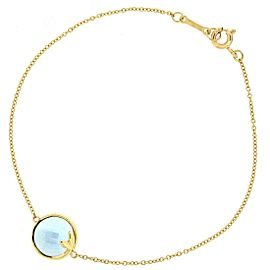 Tiffany & Co. Paloma Picasso 18K Yellow Gold with Blue Topaz Bracelet