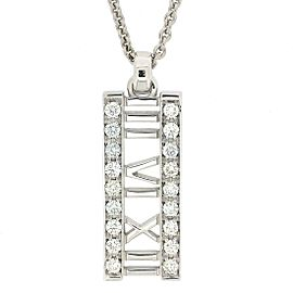 Tiffany & Co. Atlas 18K White Gold with Diamond Necklace