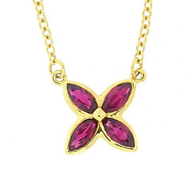 Tiffany & Co. Victoria 18K Yellow Gold and Ruby Necklace