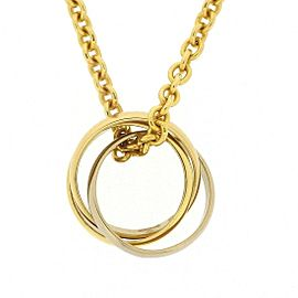 Cartier Trinity Necklace 18K Yellow White & Rose Gold