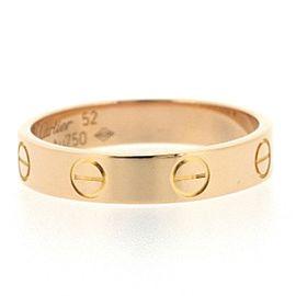 Cartier Mini Love 18K Rose Gold Ring Size 6