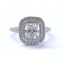 Tiffany & Co. PT950 Platinum with 1.43ctw Diamond Soleste Engagement Ring Size 5.25