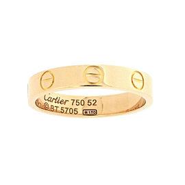 Cartier Mini Love Ring 18K Rose Gold Size 6