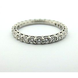 Tiffany & Co. Platinum Diamond Wedding Ring Size 5
