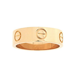 Cartier Love Ring 18K Rose Gold Size 5.25
