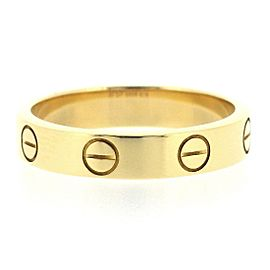 Cartier Love Ring 18K Yellow Gold Size 5.25