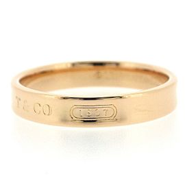 Tiffany & Co. 1837 18K Rose Gold Ring Size 6.5