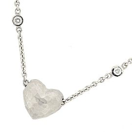 Tiffany & Co. Paloma Picasso 18K White Gold with Diamond Heart Necklace