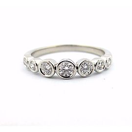 Tiffany & Co Platinum Jazz Graduated 0.31ctw Diamond Band Ring Size 7.5