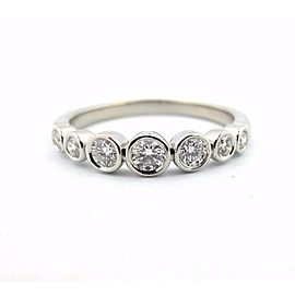 Tiffany & Co Platinum Tiffany Jazz Graduated Diamond Band Ring .31CT Size 7.5