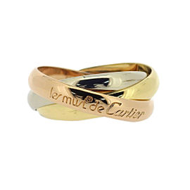 Cartier Trinity Ring 18K Yellow, White and Rose Gold Size 6.75