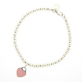 Tiffany & Co. 925 Sterling Silver Return To Tiffany Heart Tag Bracelet