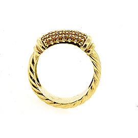 David Yurman Metro 18K Yellow Gold Sapphire Ring Size 6