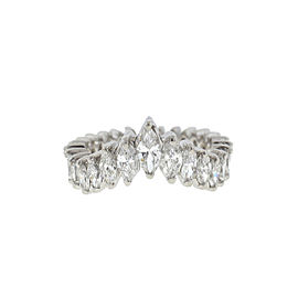 Platinum Marquise V Grand Band Ring 1.70Cts