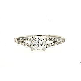 Tiffany & Co. Lucida .79 F VVS2 Diamond Engagement Split Shank Ring Size 6.5