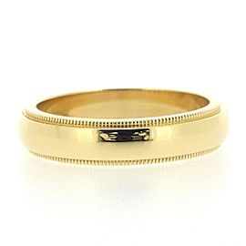Tiffany & Co. Milgrain 18K Yellow Gold Ring Size 4.25
