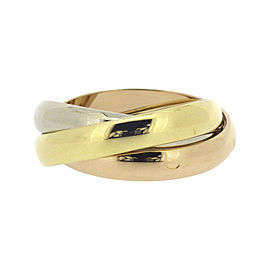 Cartier Trinity Ring 18K Yellow White and Rose Gold Size 5.5