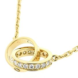 Cartier Baby Love Necklace 18K Yellow Gold with Diamond