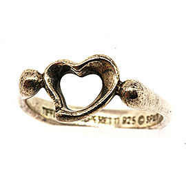 Tiffany & Co. Elsa Peretti Loving Heart Ring Sterling Silver sz 5